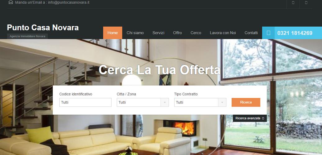 Realizzazione sito web Agenzia Immobiliare a Novara