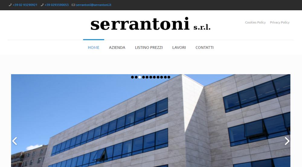 Realizzazione sito web per Serrantoni S.r.l. di Milano