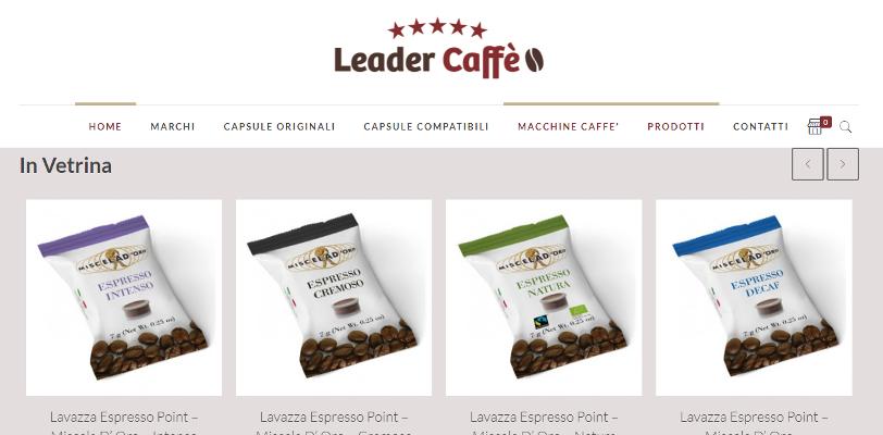 Realizzazione E-commerce Vendita Cialde per caffè
