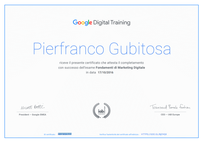 google digital training certificate